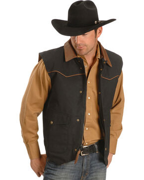 Schaefer Cattleman Canvas Vest, Black, hi-res