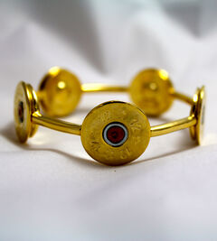 SouthLife Supply Susan Shotshell Bangle Bracelet in Traditional Gold, Gold, hi-res