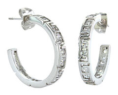 Montana Silversmiths Women's Dainty Aztec & Rhinestone Earrings , , hi-res