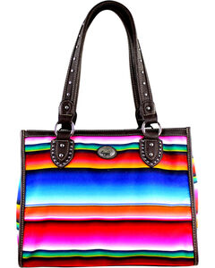 Montana West Women's Horizontal Stripe Serape Concealed Carry Tote Bag , , hi-res