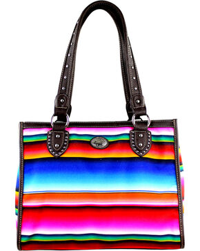 Montana West Women's Horizontal Stripe Serape Concealed Carry Tote Bag , Multi, hi-res