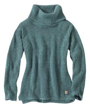 Carhartt Dutton Cowlneck Sweater, Blue, hi-res