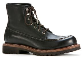 Frye Men's Dakota Mid Lace Boots - Round Toe, Black, hi-res