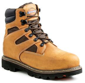 Dickies Men's Grinder Waterproof Boots - Steel Toe, Brown, hi-res