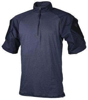 Tru-Spec Men's Navy TRU Combat 1/4 Zip Shirt, Navy, hi-res