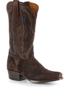 El Dorado Men's Genuine Sueded Hippo Western Boots - Square Toe, , hi-res
