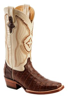 Ferrini Chocolate Caiman Belly Cowgirl Boots - Square Toe, , hi-res