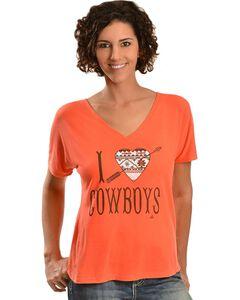 Ali Dee I Love Cowboys Aztec Heart T-Shirt, , hi-res