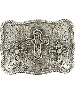 Rec Cross Buckle, Silver, hi-res