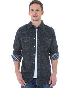 Wrangler 20X Men's Black Paisley Shirt, , hi-res