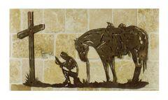 Cowboy Prayer Metal Wall Art, , hi-res