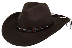 Outback Trading Co. Aubrey UPF50 Sun Protection Crushable Wool Hat, , hi-res