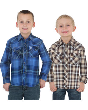 Wrangler Boys' Assorted Retro Long Sleeve Shirts , Multi, hi-res