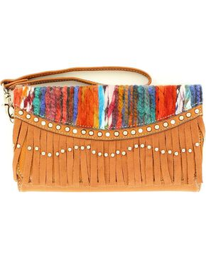 Blazin Roxx Fringe Southwest Wallet, Brown Multi, hi-res