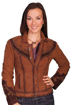 Scully Women's Studded Suede Jacket, , hi-res