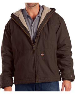 Dickies Hooded Sherpa Lined Work Jacket, Brown, hi-res