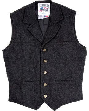 Schaefer Men's 707 McClure Wool Vest, Dark Grey, hi-res