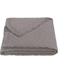 HiEnd Accents Diamond Pattern Grey Linen Full/Queen Quilt, , hi-res