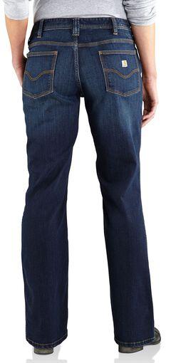 Carhartt Women's Relaxed Fit Dark Indigo Jasper Jeans, , hi-res