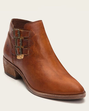 Frye Women's Cognac Ray Belted Booties - Pointed Toe , Cognac, hi-res