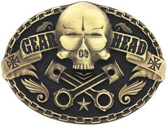 Montana Silversmiths Gearhead Heritage Attitude Belt Buckle, , hi-res