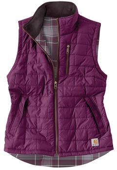 Carhartt Women's Reversible Plaid Amoret Vest, , hi-res