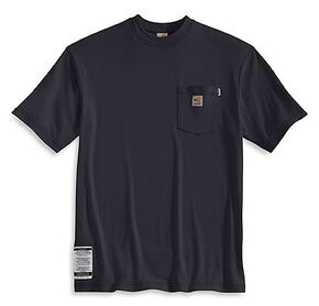 Carhartt Flame Resistant Short Sleeve T-Shirt - Big, Navy, hi-res