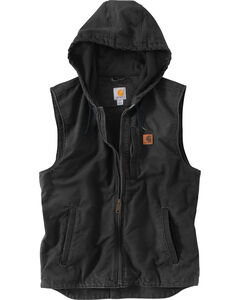 Carhartt Men's Black Knoxville Hooded Vest , , hi-res