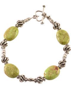 Julie Rose Green Beaded Bracelet, , hi-res