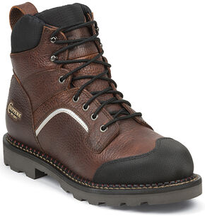 "Chippewa Men's 6"" Fall Flame Waterproof XOG Work Boots - Composite Toe, Peanut Brittle, hi-res"