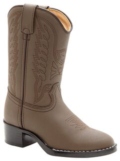 Durango Youth Brown Cowboy Boots - Round Toe, , hi-res