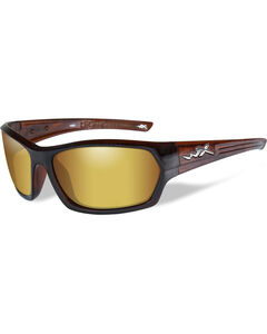 Wiley X Legend Polarized Venice Gold Gloss Hickory Brown Sunglasses , , hi-res