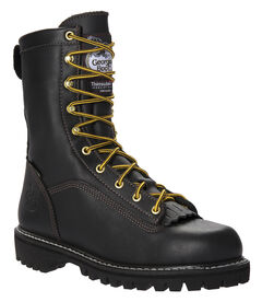 Georgia Insulated Low Heel Logger Work Boots - Round Toe, , hi-res