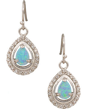 Montana Silversmiths Canyon Colors River Lights on Ice Teardrop Earrings, Silver, hi-res