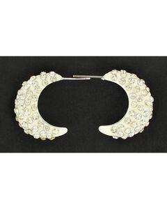 Blazin Roxx Crystal Hoop Earrings, White, hi-res