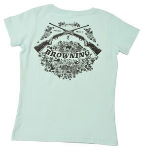 Browning Women's Light Blue Rifle Bouquet T-Shirt  , Light Blue, hi-res