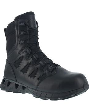 """Reebok Men's 8"""" Zigkick Tactical Work Boots - Composite Toe , Black, hi-res"""