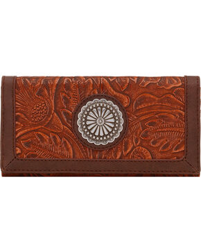 Bandana by American West Dallas Orange Sun Flap Wallet, Orange Sun, hi-res