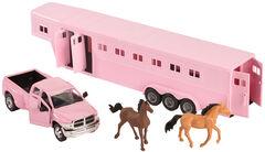 Girls Pink Dodge Truck & Horse Trailer Toy Set, , hi-res