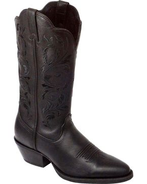 Twisted X Western Black Embroidered Cowgirl Boots - Medium Toe, Black, hi-res