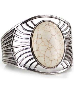 Shyanne Women's Marble Concho Cuff Bracelet, Silver, hi-res