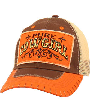 Blazin Roxx Pure Cowgirl Cap, Brown, hi-res