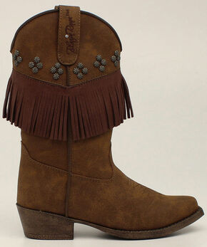 Blazin Roxx Youth Girls' Annabelle Fringe Boots - Snip Toe, Brown, hi-res