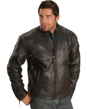 Milwaukee Motorcycle Maverick Leather Jacket, Black, hi-res