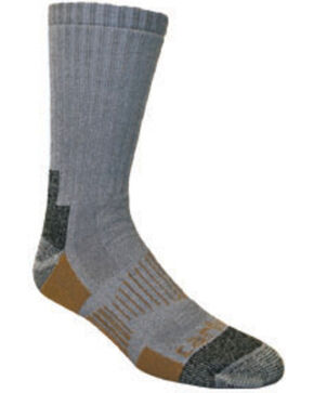 Carhartt Grey All-Terrain Boot Socks - 2 Pack, Grey, hi-res