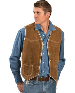 Scully Boar Suede Leather Vest, , hi-res