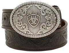Ariat Boys Holden Tooled Belt, , hi-res