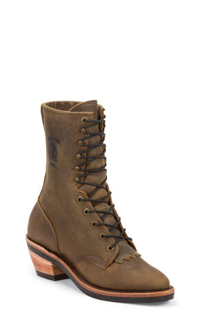 "Chippewa 10"" Packer Boots, Bay Brown, hi-res"