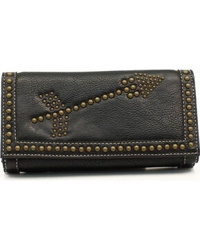 Blazin Roxx Claire Collection Double Arrows Wallet, Black, hi-res