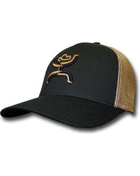 Hooey Men's Coach Flexfit Embroidered Baseball Cap , Black, hi-res
